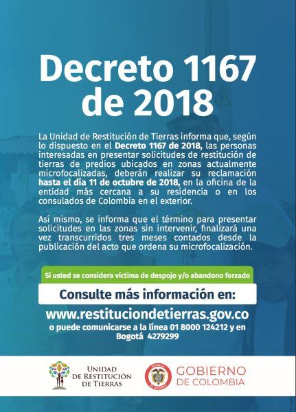 Decreto 1167 de Julio 11 de 2018